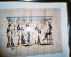 """""""What do you 'spy' that these Egyptian figures are doing in this painting?"""""""