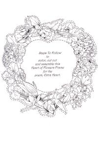 Heart of Flowers Frame for the poem, Extra Heart