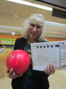 """Just look at that bowling score!"" Bragging rights are for teachers, too."
