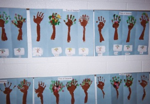 "A Tree of Seasons Bulletin Board is a ""show of hands!"""